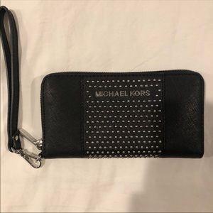 42b66d9e6021 Handbags - Michael kors Black stud wristlet wallet